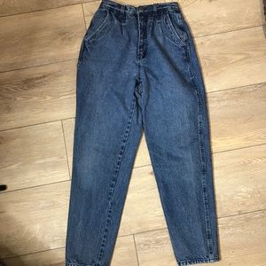 Vintage Bill Blass Pleated Front Blue Jeans, mom